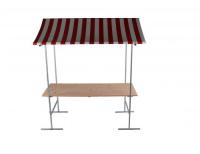 Marktkraam met stalen frame – 2 meter Huren